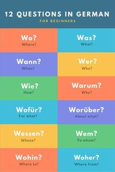 on Question words in German for beginners. There are a lot more ways of asking a question in German than in English!Question words in German for beginners. There are a lot more ways of asking a question in German than in English! German Language Learning, Language Study, Language Lessons, Learn A New Language, Spanish Language, French Language, Dual Language, German Language Course, Study German