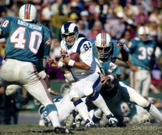 Rams - Dolphins in the early A match up of two of the best uniforms in NFL history. Football Memes, Football And Basketball, School Football, Basketball Players, Nfl Uniforms, Best Uniforms, Nfl Rams, Nfl Miami Dolphins, Basketball Photography