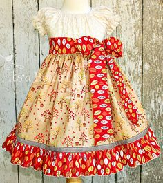 Girls Fall  Peasant dressThanksgiving  Girls apple by ItsaBowsLife, $52.00