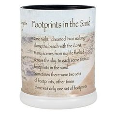 Footprints in the Sand Ceramic Stoneware Electric Large Jar Candle Warmer