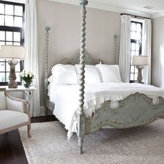 """Italian Country Interior Design Design Ideas, Pictures, Remodel, and Decor - page 6 The italian hand painted bed from porte Italia interiors"""" """"color for interior...Country Chic...Smith Interiors"""""""