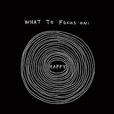 What to focus on - Happy (on black) Art Print by marcjohns Funny Illusions, Moving Optical Illusions, Illusion Tricks, Science Memes, Work Motivational Quotes, Meditation Benefits, Happy Art, Favorite Words, Psychedelic Art