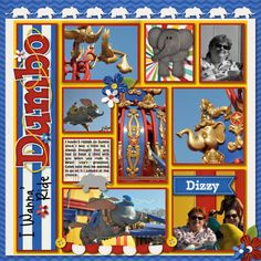 dumbo scrapbook layout - Google Search