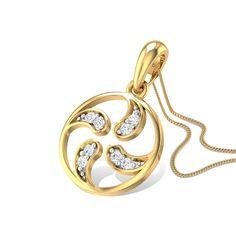Yin Yang Diamond Studded Gold Pendant