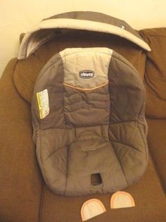 chicco 30 - Infant Car Seat Cover Only- Gray used  #Chicco