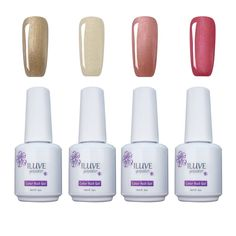 iLuve Long Lasting Soak Off UV Nail Polish, 4 Bottles(60ml) Golden Glamour Set Including: 1x Color-1407,1x Color-1403,1x Color-1329,1xColor-1591 with 238 Other Colors Available *** Check out this great product.