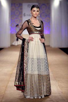 Cream colored Anju Modi.