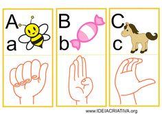 Ideia Criativa - Gi Barbosa Educação Infantil: Flash Cards Letras do Alfabeto Libras
