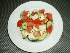 Greek-Style Tomato and Cucumber Salad with Feta