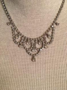Vintage 40's Weiss Rhinestone Necklace  | eBay