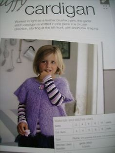 Bergere de #france little girls fluffy cardigan #knitting #pattern [from magazine,  View more on the LINK: http://www.zeppy.io/product/gb/2/252122001766/