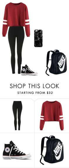"""school swaaaaag"" by infinite-xoxo on Polyvore featuring Topshop, Converse, NIKE and Casetify"