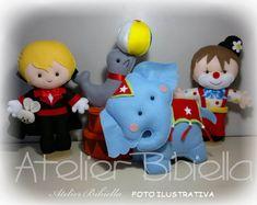 CIRCO DA BIBIELLA- KIT 4 PERSONAGENS | Atelier Bibiella | Elo7