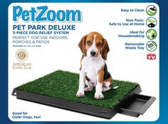 Pet Park Deluxe Indoor Potty System is on sale at 63% off retail.  Perfect for training your pooch or smaller pups that like to pee indoors.  On sale @Coupaw
