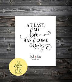 Personalized Art Print - ANNIVERSARY gift - Wedding Gift - Bride & Groom First Dance Lyrics on Etsy, $23.00