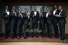 A Toast to The Groom & Groomsmen Looking Hot in Their Black Suits   Elizabeth & Cyril's Elegant Ghana Resort Wedding   Laceup Weddings