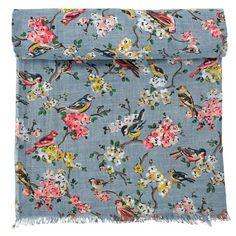 Blossom Birds Woven Printed Shawl