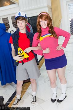 Dipper Pines, Mabel Pines, and Bill Cipher | Katsucon 2015