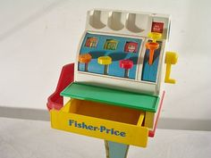 1990 Fisher Price Toy Money Cash Register.,.. I had one at my grandmas