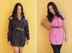 2 Ways to Turn a Men's Shirt into a Chic Shirt Dress via Brit + Co