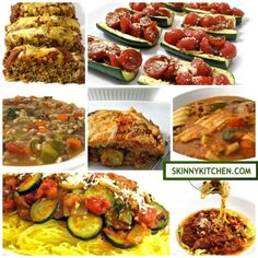 10 Skinny Recipes with Zucchini. Yay…It's zucchini season! I'm sharing my favorite recipes using this wonderful, healthy vegetable. http://www.skinnykitchen.com/recipes/7-skinny-recipes-with-zucchini/