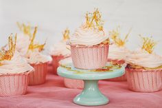 Pink Champagne & Strawberry Cupcakes