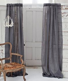 Sheer gray curtains from A Perfect Gray