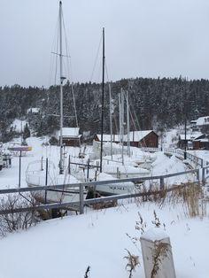 La cale sèche sous la neige