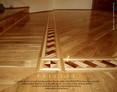 wood flooring with inlay | ... floor border inlay installed with an english layout parquet flooring