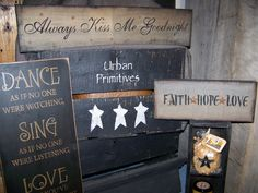 Country~Primitive Signs Hand Crafted In Nova Scotia,Canada... By Urban Primitives.Check Us Out on Facebook