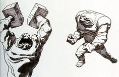 Clayface models, by Bruce Timm