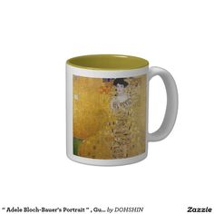 """Adele Bloch-Bauer's Portrait"" and Gustav Klimt Two-Tone Coffee Mug"