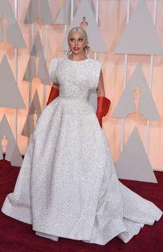 Lady Gaga w sukni Azzedine Alaia, Oscary 2015