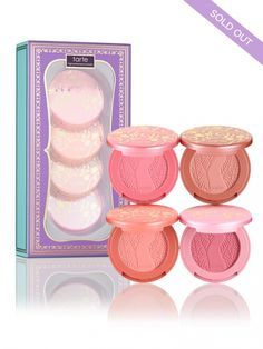 An exclusive deluxe gift set featuring tarte's award-winning, celebrity-favorite blushes in 4 limited-edition shades.  Includes 4 deluxe, limited-edition blushes: • amour (candy pink)• classic (soft apricot pink)• prim (plum nude)• daydream (rosy pink)