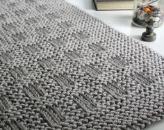KNITTING PATTERN / Over the Rooftops Blanket / Throw / Baby /