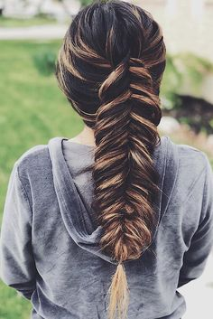 Dutch fishtail braid.