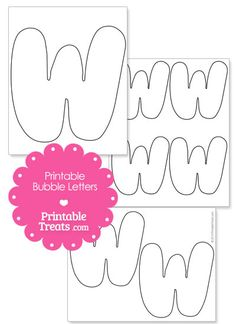 Printable Bubble Letter W Template from PrintableTreats.com