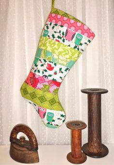 Childrens Christmas Stocking  Ho Ho Hoot Owls  by FernLeslieBaby, $35.00