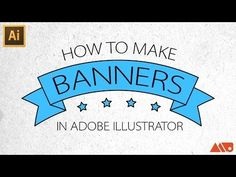 ▶ Adobe Illustrator Tutorial: How to Make Banners / Ribbons - YouTube