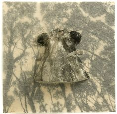 Fading Away, 2008,  Photogravure etching and thread, by Emma Nishimura