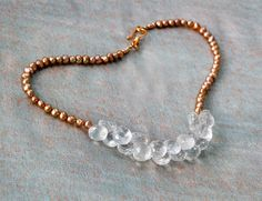 Easy breezy crystal gemstone necklace and gold by InspiredbyDesign, $285.00