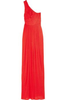 tibi one-shouldered fine-jersey gown. $385