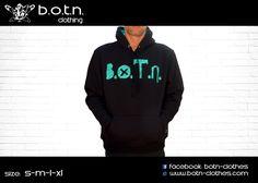 B.O.T.N. Hoodies (petrol colour)