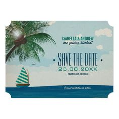 Cruise Ship Save the Date Destination Wedding Save the Date Card
