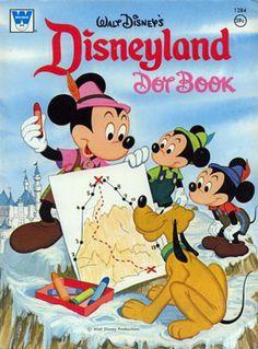 Disneyland Dot Coloring Book Whitman 1975