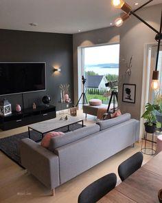 For et skikkelig møkkavær 🙊 I dag skal det ikke bli spesielt fint 🙈👀 . Living Room Tv, Apartment Living, Interior Design Living Room, Home And Living, Living Room Designs, Men Apartment, Bedroom Decor, House Design, Home Decor