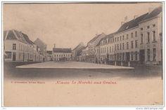 Ninove - Graanmarkt, links winkeltje op de hoek van het Peperstaatje nu Despauteerstraat