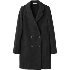 T by Alexander Wang Double Breasted Coat ($650) ❤ liked on Polyvore