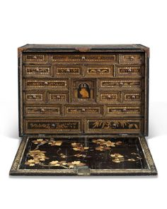 A Lacquer Cabinet Commissioned For The Portuguese Market On An English  StandMomoyama Period (late 16th