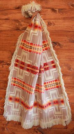 Vintage Pendleton Blanket with Fringe on Etsy, $245.00